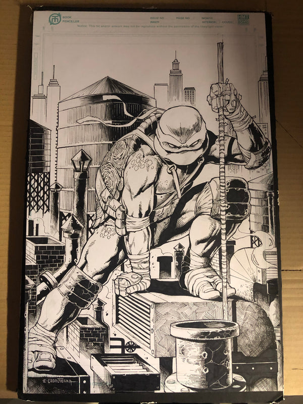 TMNT #104 ORIGINAL ARTWORK BY EMIL CABALTIERRA - Slab City Comics