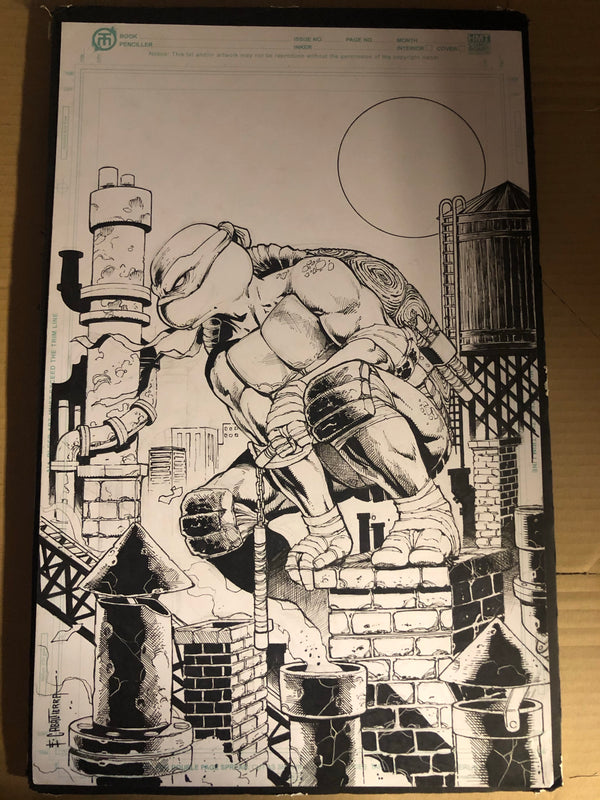 TMNT #101 ORIGINAL ARTWORK BY EMIL CABALTIERRA - Slab City Comics