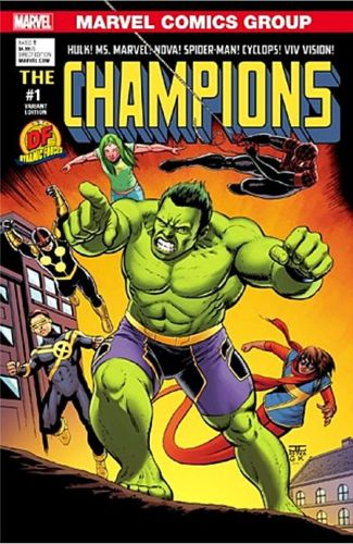 CHAMPIONS #1 DF DYNAMIC FORCES CASSADAY COLOR VARIANT