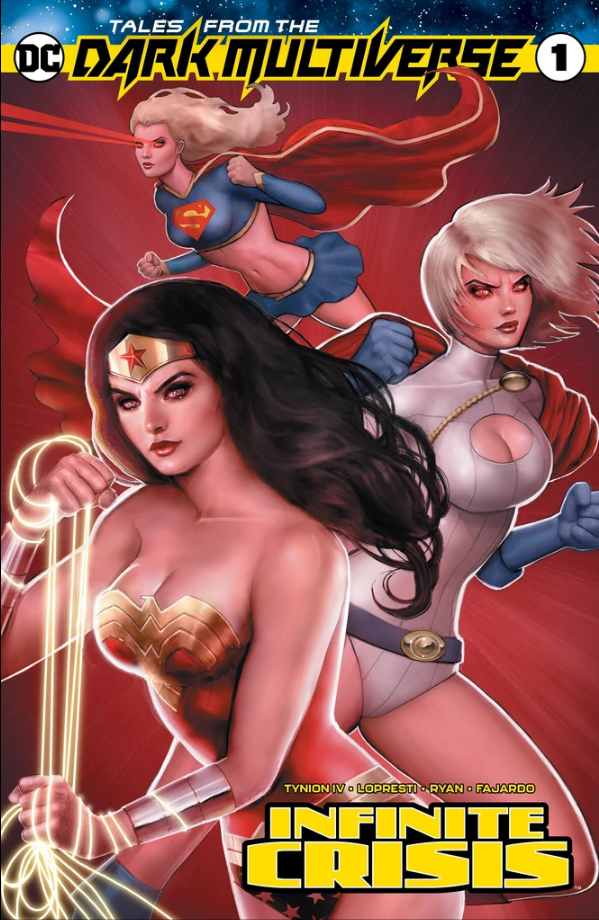 TALES FROM THE DARK MULTIVERSE INFINITE CRISIS SZERDY TRADE COVER,  - Slab City Comics - UK Comic Shop
