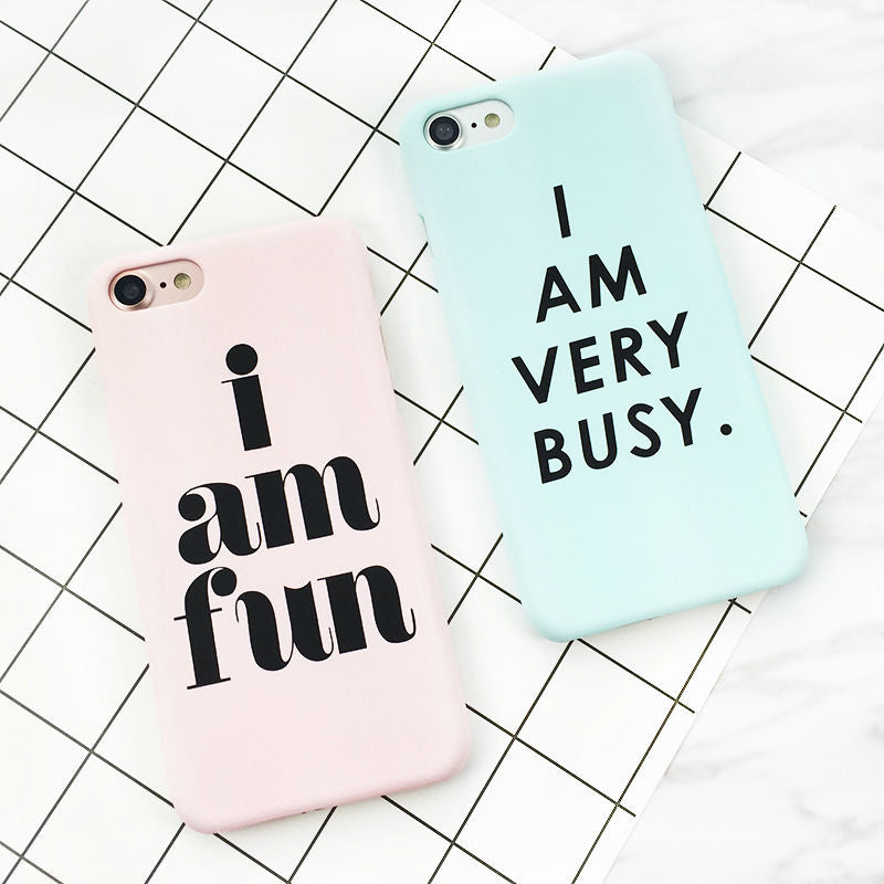 "phone-cases - ""I AM VERY BUSY"" - ""I AM FUN"" iPhone Case - www.mica.store"