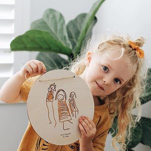 Kid's Sketch Plaque