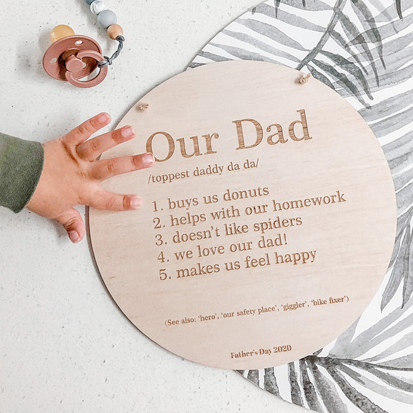 About Dad Plaque