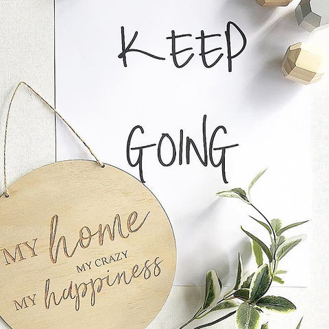 My home MY CRAZY My happiness Wall Plaque