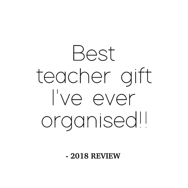Group Teacher Gift Plaque