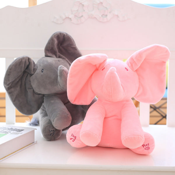Peek A Boo Elephant Plush Doll