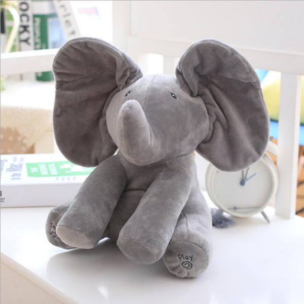 Peek A Boo Elephant Plush Doll - Mart Wind
