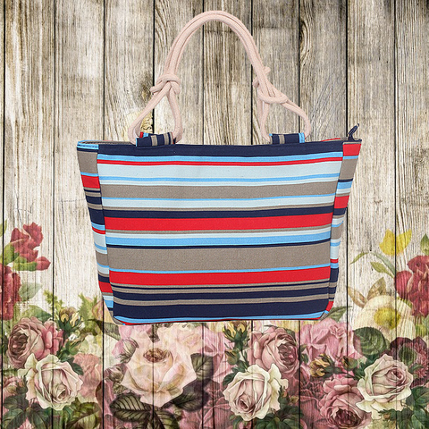ADORABLE FLORAL CANVAS HANDBAGS - Mart Wind