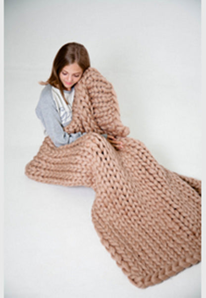 Super Chunky Knit Blanket - Mart Wind