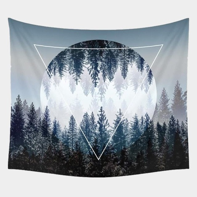 Geometric Forest Tapestry - Mart Wind