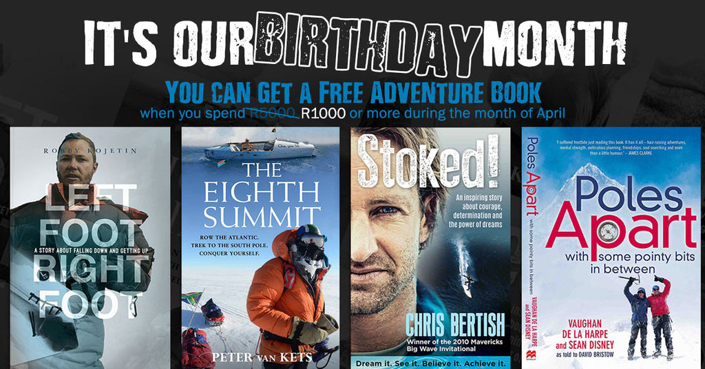 It's our bday month & we're giving away adventure books!