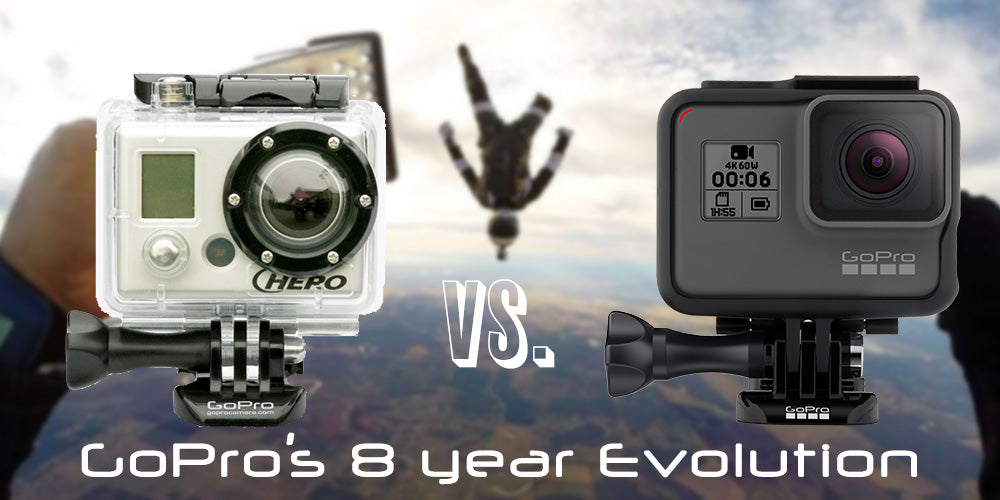 This is progress: GoPro Hero 1 HD vs GoPro Hero6