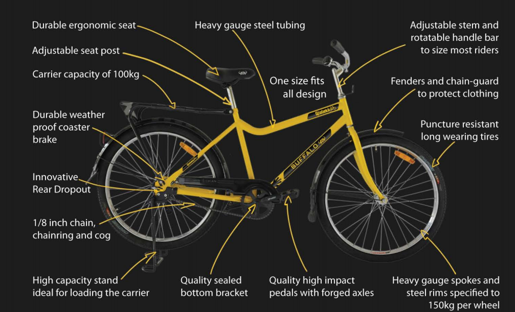 Introducing Our Qhubeka Buffalo Bicycles