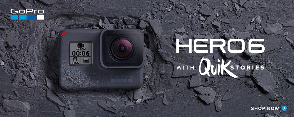 GoPro Hero 6 Now with Quikstories