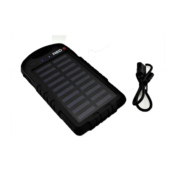 [product-type]-Red-E RS40 4000 mAh Power Bank Solar+Led Panel - Action Gear