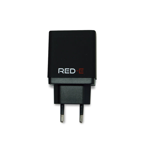 [product-type]-Red-E Dual Wall Charger 3.4 Amp - Black - Action Gear