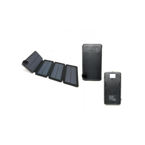 Red-E Power Bank Rsp-80 8K Mah Black Solar Panel. - Action Gear