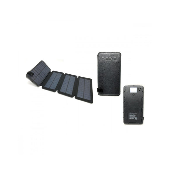 [product-type]-Red-E 8000mAh RSP-80 Solar Panel Power Bank - Action Gear