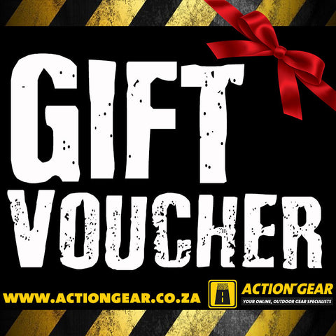 Action Gear Gift Voucher - Choose From R100 ~ R10k