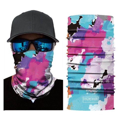 Multifunction Face Cover Bandana Headband Sun UV Protection Dustpoof Windproof Breathable Outdoor Riding FS104-03