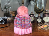 B111 Warm Beanie with Pompom and Lining Multi Colours