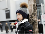 KB111 Kids Beanie with Pompom Lined Navy