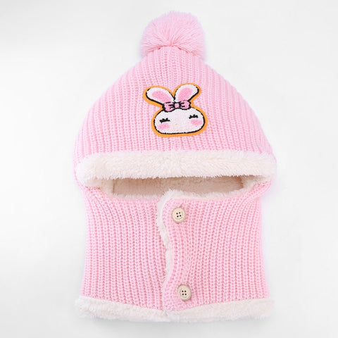 KB103 Kids Beanie with Neck Warmer and Soft Lining Multi Colours