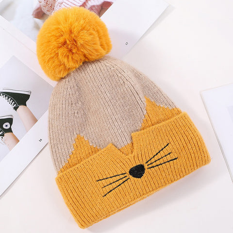 B20124 Beanie Pompom with Lining Multi Colours
