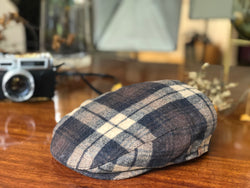 IVH106 Brim&Brawn in Ivy  Shape Flat Cap in Brown Check