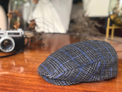 IVH107 Brim&Brawn Ivy Shape Flat Cap in Grey Check
