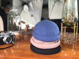 B20117  Adjustable French Brimless Hat Knitted Short Beanie Multi Colours
