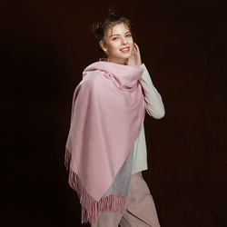 WS104 Warm Scarf Double Sided Pink Grey