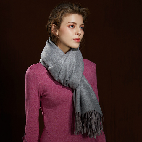 WS104 Warm Scarf Double Sided Grey