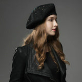 B133 Warm Sparkly French Beret   Multi Colours