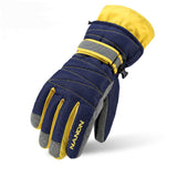 WGXX Waterproof Ski Glove with Sizes Kids and Adult Navy