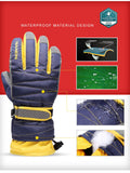 WGXX Waterproof Ski Glove with Sizes Kids and Adult Black
