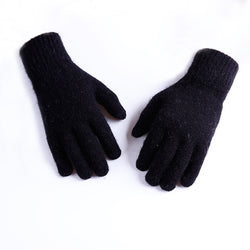 WG109 Knit Stretch Glove Touch Screen Black Large Size