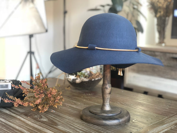 FH100 Bohemian Floppy Hat 100% Wool Felt Teal