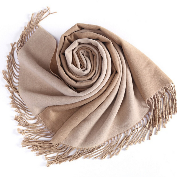 WS104 Warm Scarf  Double Sided Camel