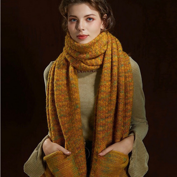 WS111 Warm Scarf with Pocket Multi Colours