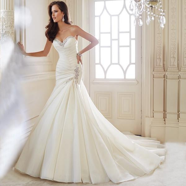 Collection of luxury wedding dress.