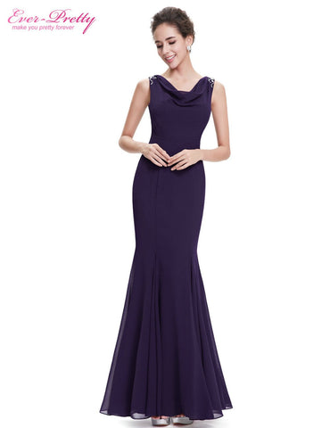 Mother of the Bride Dresses Ever Pretty HE08579PP Women Elegant V Neck  Long  Summer Vestidos Mother of the Bride Dresses