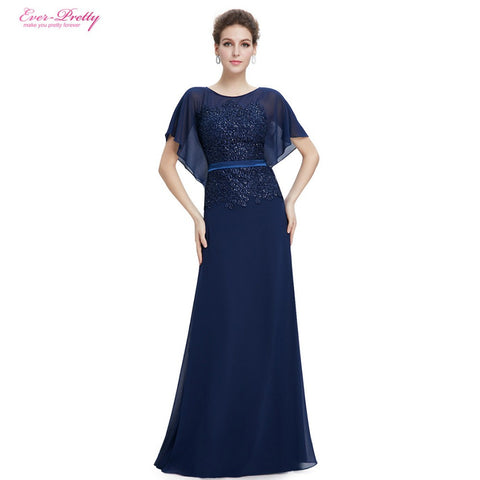 Mother of the Bride Dresses Ever Pretty EP08775 2017 Women Elegant Leaf  Sleeve Design Cap Sleeve Mother of the Bride Dresses