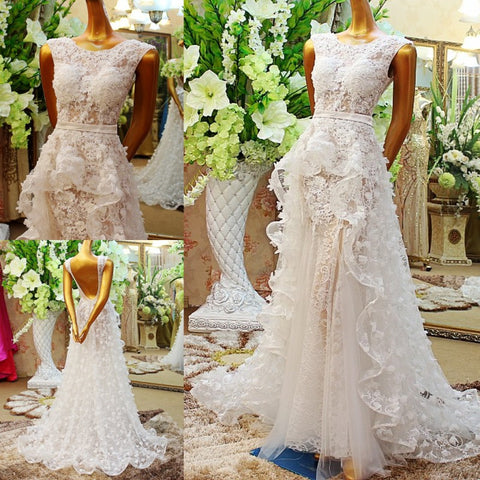 2017 sexy Luxury wedding Dresses vestido de novia bride dresses lace wedding gown Bridal Gowns Princess vestidos de boda