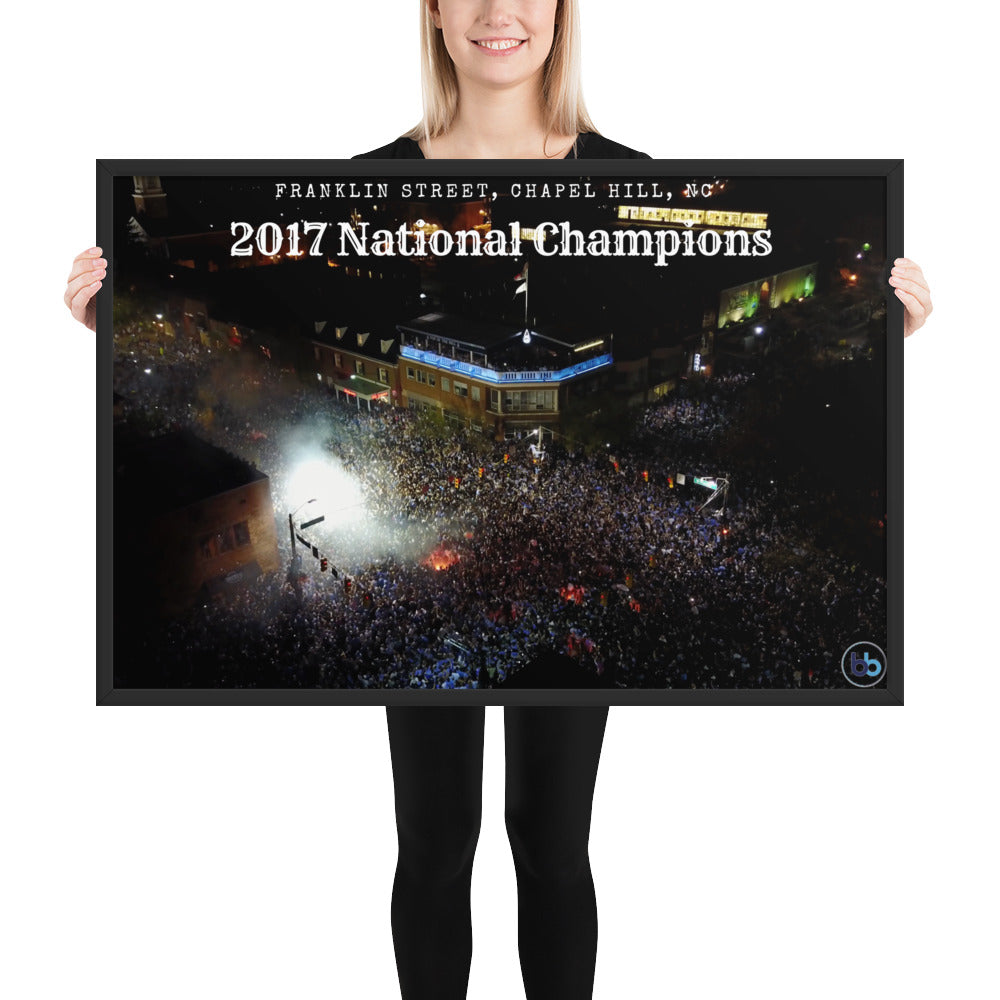 2017 National Championship Framed poster