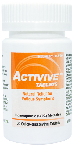 Activive Tablets - Fatigue Symptom Relief