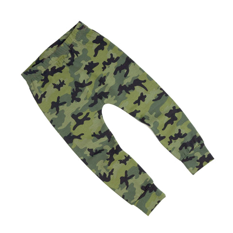 Green Camouflage Print Baby & Child Leggings