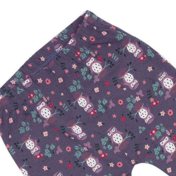 Mauve Owl Print Baby & Child Leggings