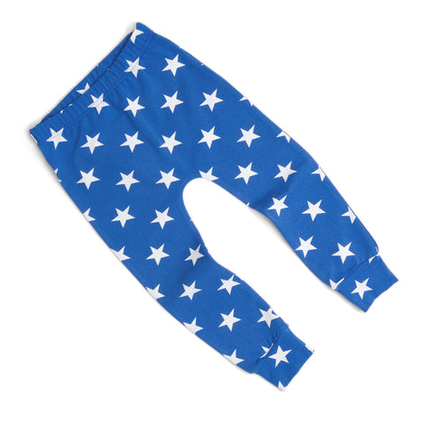 Star Royal Blue Print Baby & Child Leggings