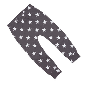 Star Dark Grey Print Baby & Child Leggings